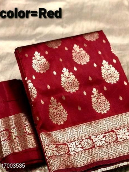 Leaf Jacquard Silk Saree
