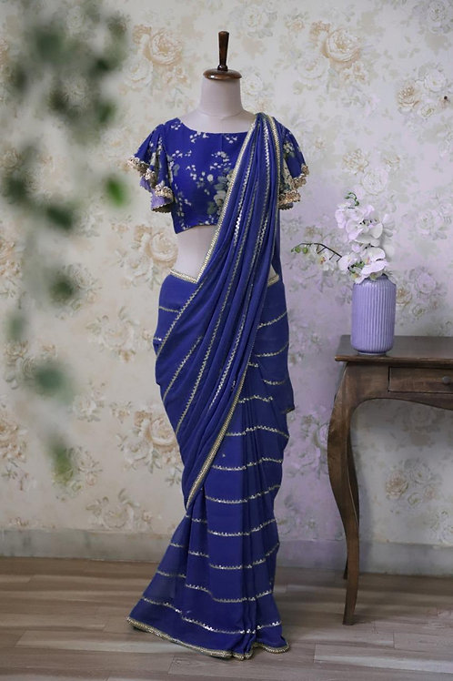 VRDS Designer Georgette Sequence Work saree 04
