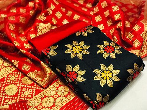 VRS Banarasi Weaving Silk Suit 01