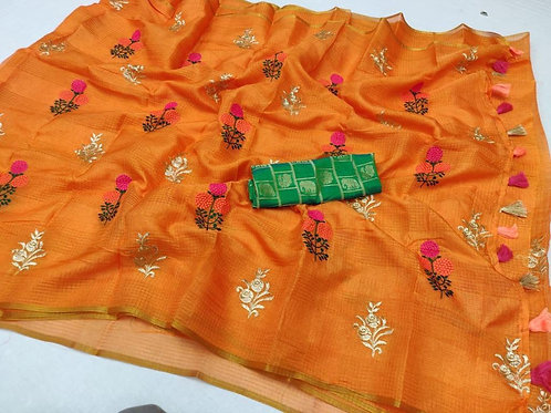 KFS Embroidery  Doria Saree 02