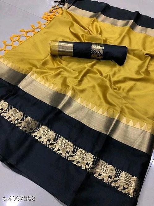 Aagam Solid Silk Saree