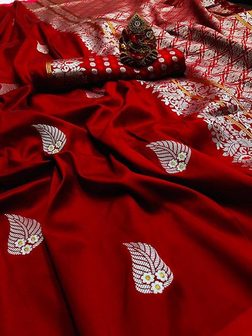 VRS ASO PAN Design Silk Saree  02