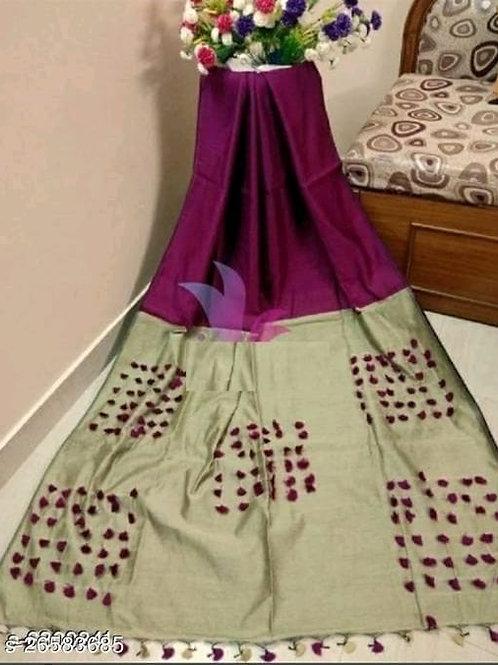 Pompom Handloom Saree