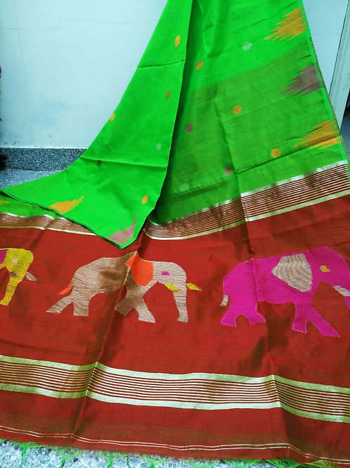 SMB Elephant Handloom Saree 04