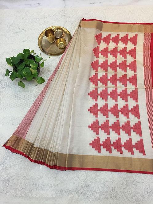 KFS Raw Khadi Cotton Saree 05