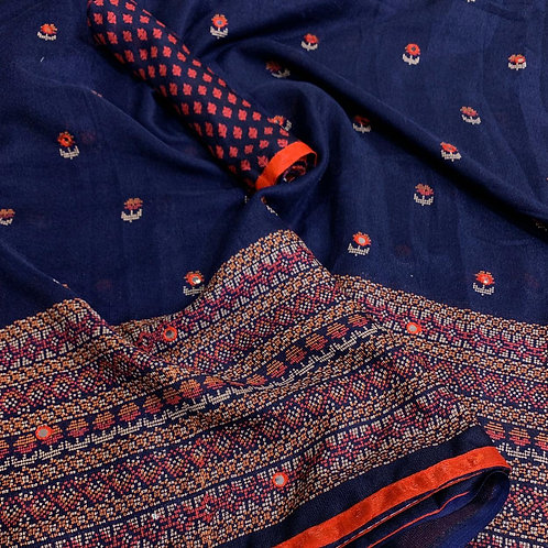 KFS Aari Mirror Embroidery Saree 02