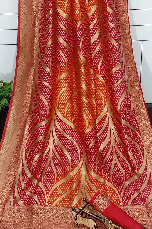 ATLS Bandhani Jacquard Silk Saree 03