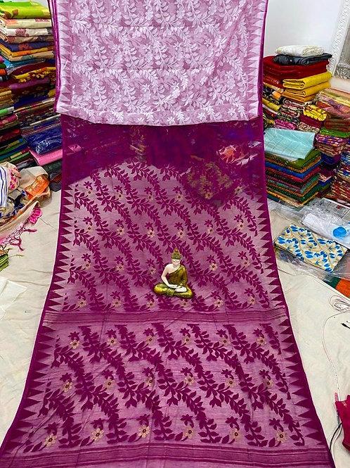 SH All over Soft Resham Jamdani Saree 03