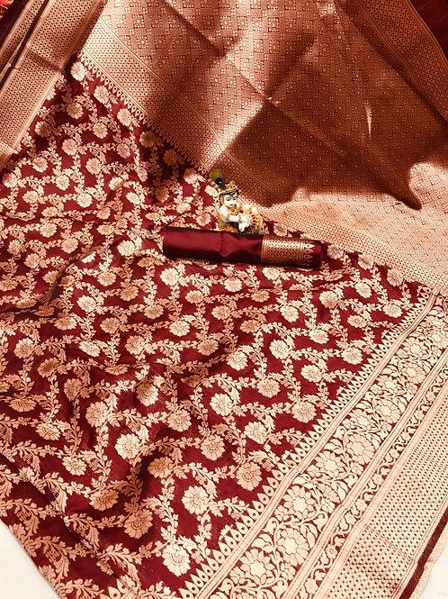 KFS Premium Banarasi  Silk Saree 01