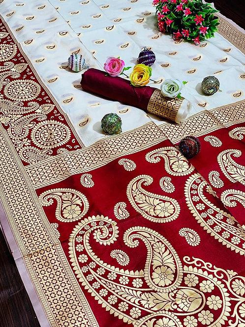 KFS Puja Special Silk Saree 01