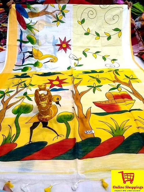 IK Hand Printed Kerala Cotton Saree 04