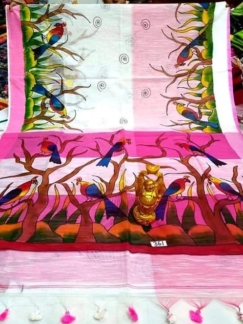 IK Hand Printed Kerala Cotton Saree 03