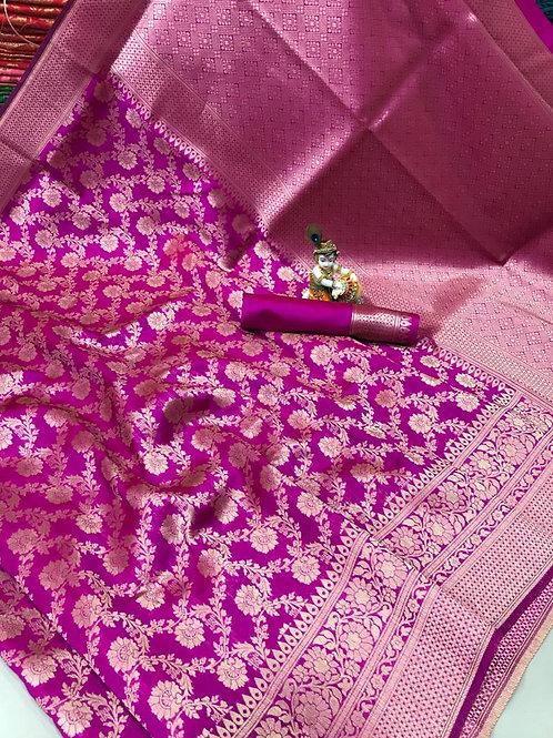 KFS Premium Banarasi Silk Saree 08