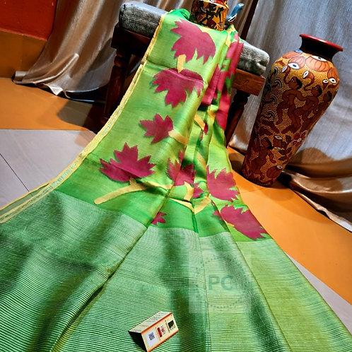 SH Classic Matka Muslin Jamdani Saree  03