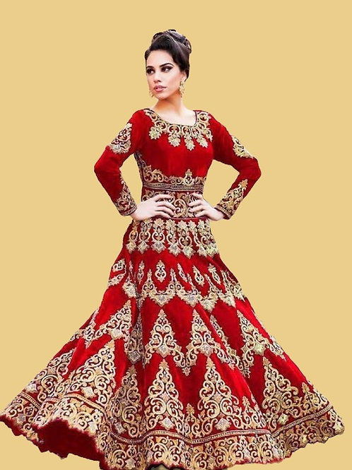 PB Fabulous Taffeta Silk Embroidered Lehenga 01