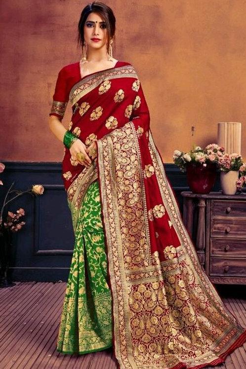 KFS Jacquard Silk Red