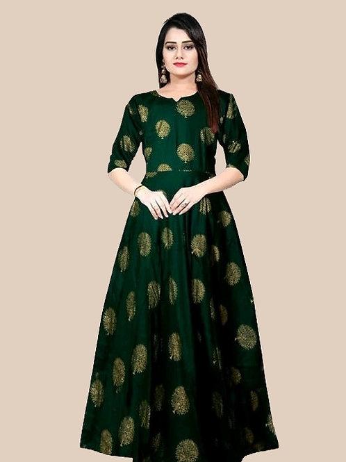 PB  Pretty sensational Women Gown  Green