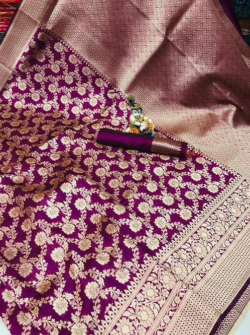 KFS Premium Banarasi Silk Saree 02
