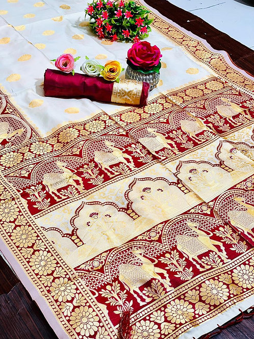 KFS Rajasthani Silk Saree  01