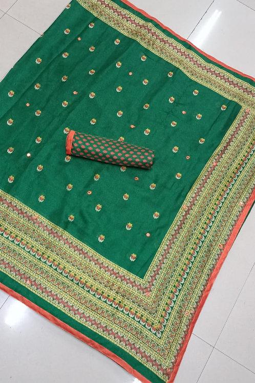 KFS Aari Mirror Embroidery Saree 03