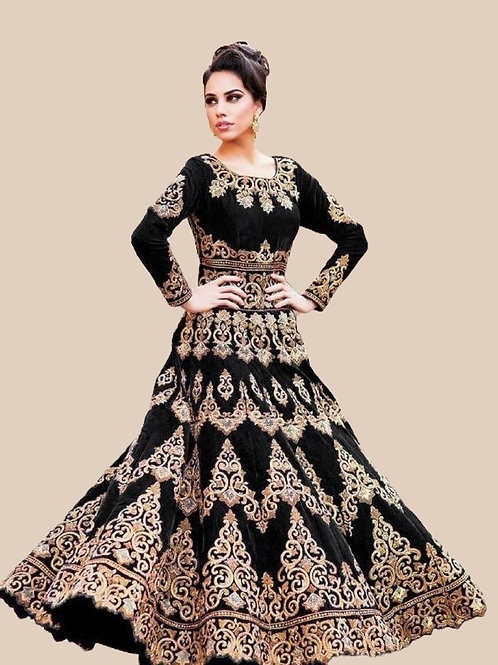 PB Fabulous Taffeta Silk Embroidered Lehenga 04