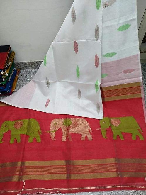 SMB Elephant Handloom Saree 02