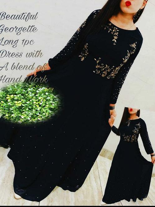 KFS Georgette Long Gown 01