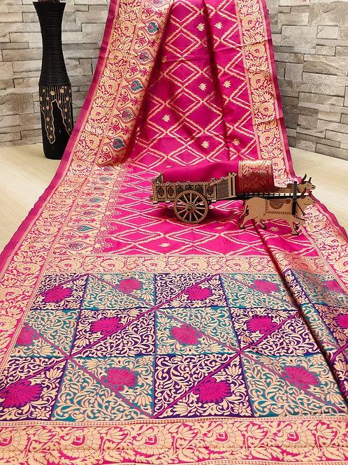 ATLS Rim Jhim Fashionable Silk Saree  02