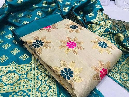 VRS Banarasi Weaving Silk Suit 02