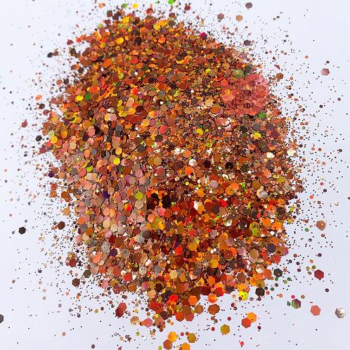 Fall Leaves Chunky Orange Glitter