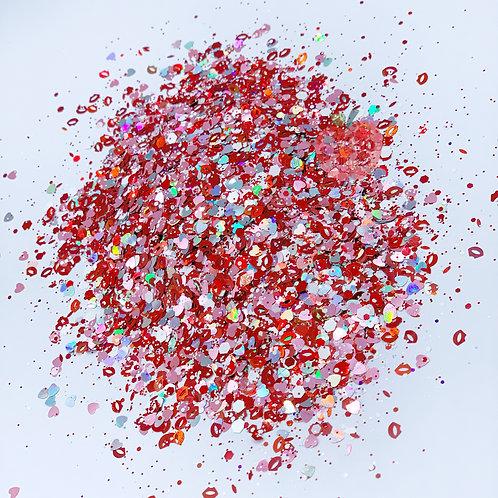 I Love You Red Glitter