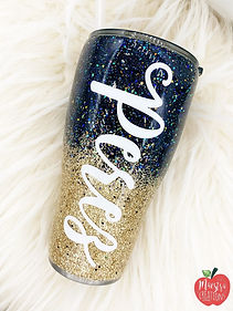 Ombre Personalized Name Tumbler