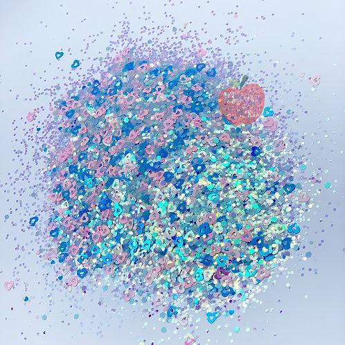 Sweetheart Blue Glitter