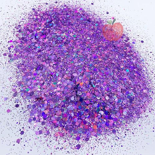 Violet Rainbow Purple Glitter