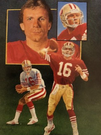 Beautifully Framed and matted Joe Montana autographed limited edition lithograph
