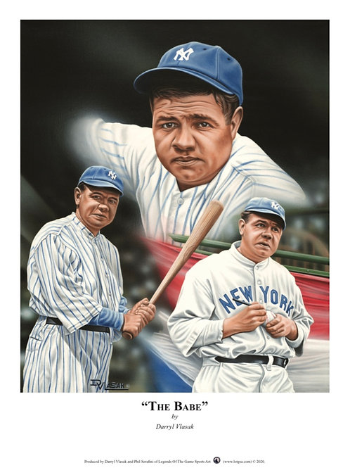"""""""THE BABE"""" limited edition lithograph featuring Babe Ruth."""