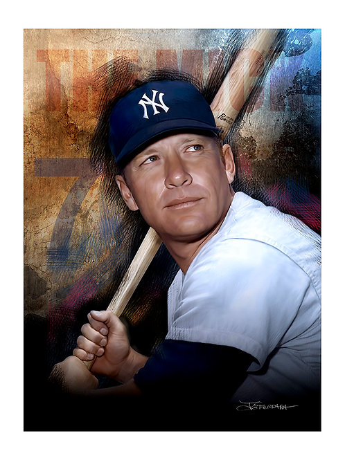 """""""MICKEY MANTLE' Limited Edition Giclee print"""