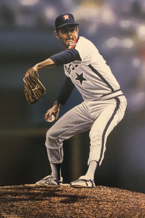 """Nolan Ryan """"Astros"""" Private Series lithograph limited to only 30 prints."""