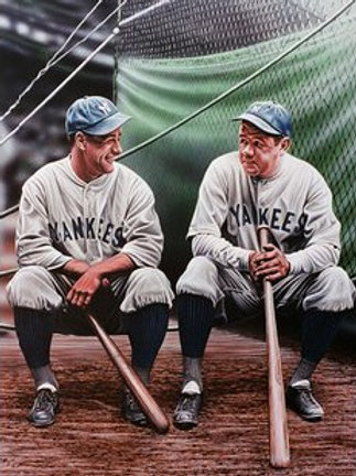 "Babe Ruth and Lou Gehrig ""Yankee Boys"" Artist Edition lithograph"