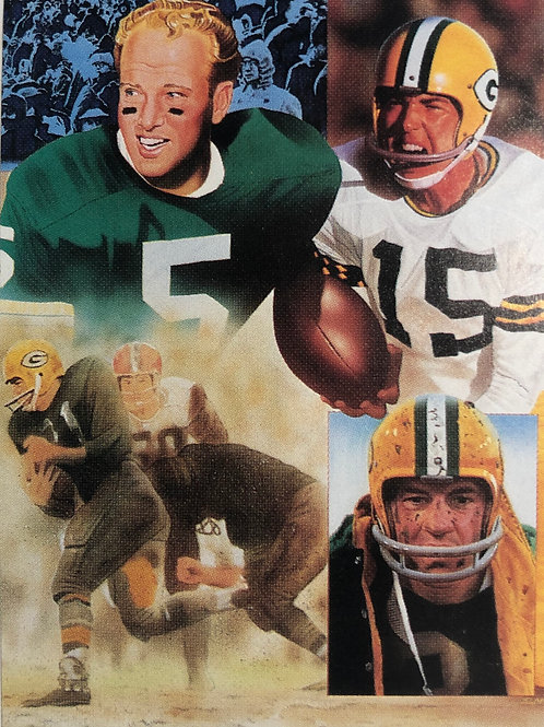 Packers autographed limited edition lithograph