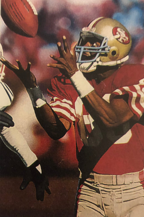 Jerry Rice autographed limited Edition lithograph