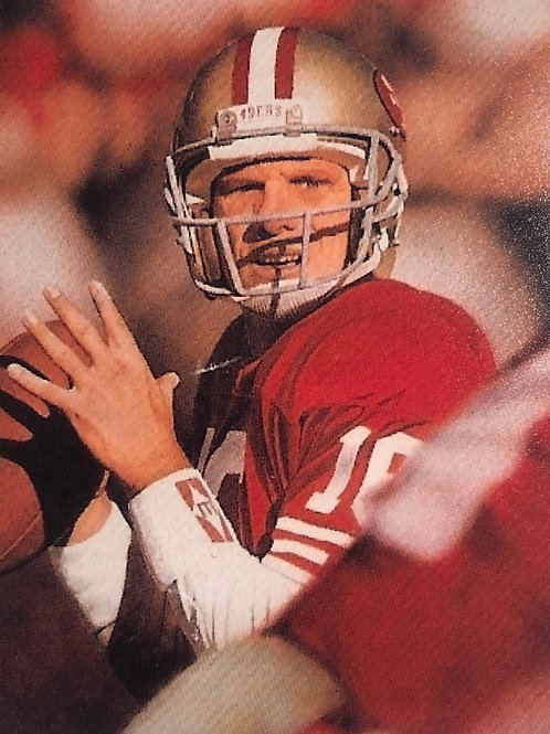 Joe Montana autographed limited edition lithograph