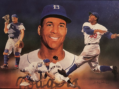 Roy Campanella autographed limited edition lithograph