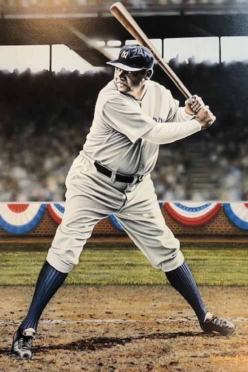"Babe Ruth ""The King Of Swat"" limited edition lithograph"