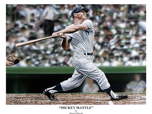 Mickey Mantle Artist Edition Giclee