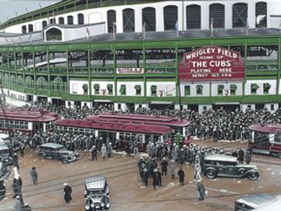 Wrigley Field Artist Edition lithograph limited to 50 prints