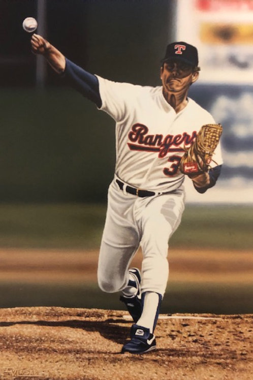 """Nolan Ryan """"Rangers"""" Private Series lithograph limited to only 30 prints."""