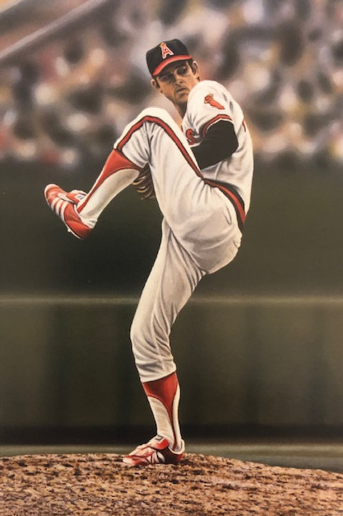 "Nolan Ryan ""Angels"" Private Series lithograph limited to only 30 prints."