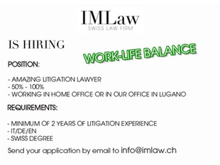IMLaw is hiring