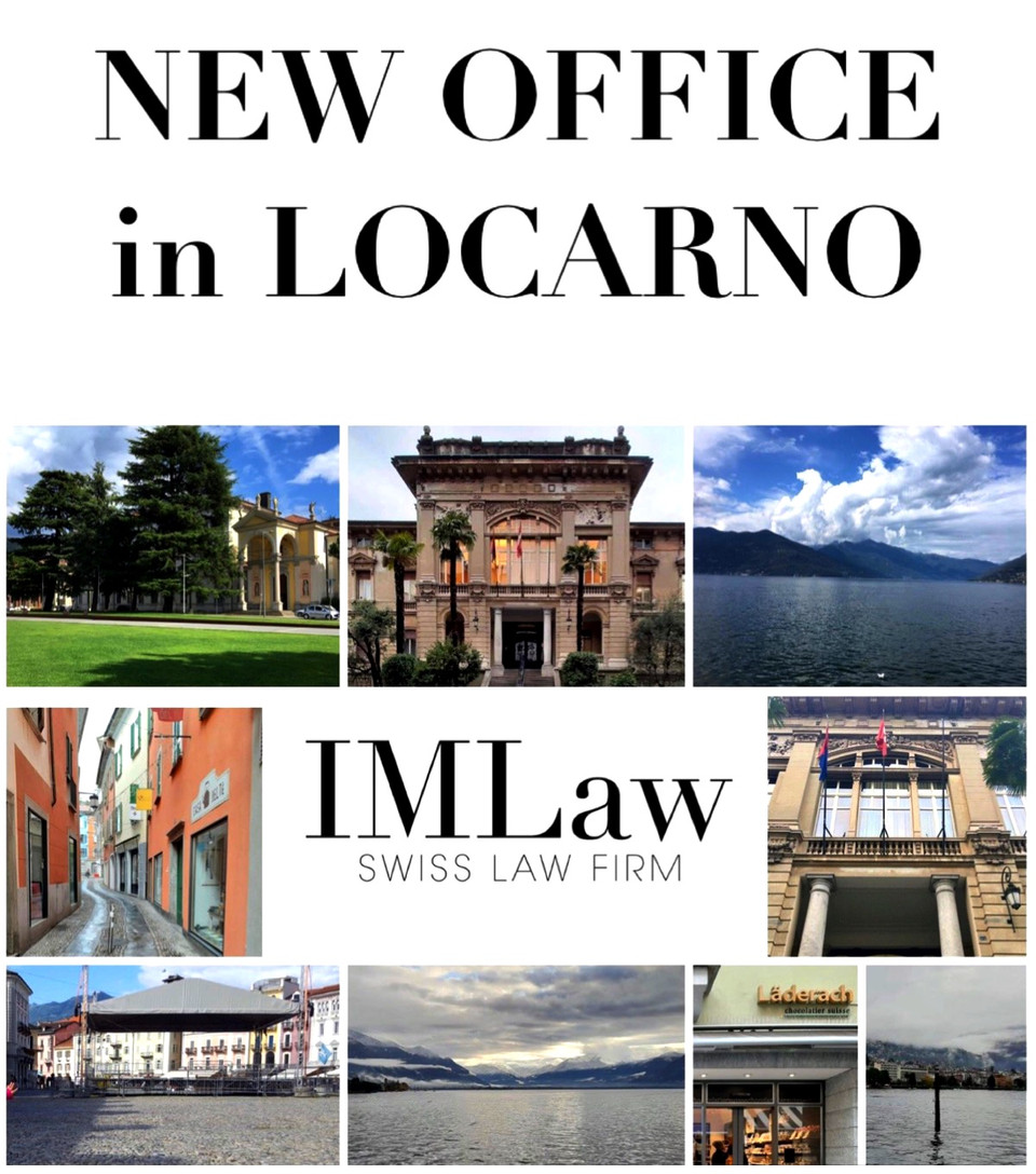 IMLaw OPENS A NEW OFFICE IN LOCARNO!